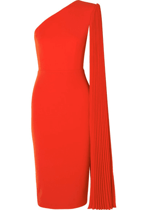 Alex Perry - Lorin One-shoulder Crepe Midi Dress - Orange