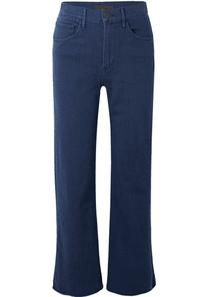3x1 - W4 Shelter Cropped Frayed High-rise Straight-leg Jeans - Mid denim