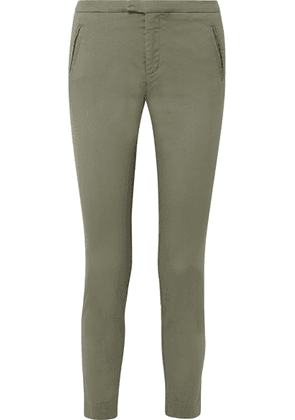 ATM Anthony Thomas Melillo - Stretch-cotton Twill Tapered Pants - Army green