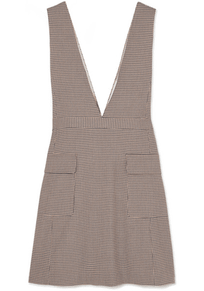 See By Chloé - Checked Woven Mini Dress - Beige