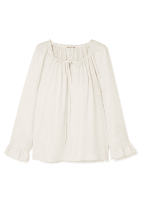 Elizabeth and James - Fleur Ruffled Cady Blouse - Ivory