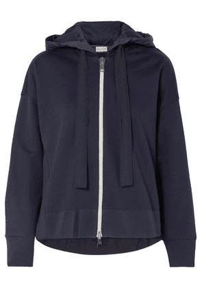 Moncler - Cotton-jersey And Shell Hoodie - Navy