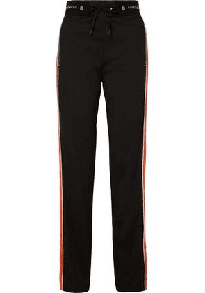 Givenchy - Striped Neoprene Track Pants - Black