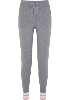 Equipment - Elsie Striped Stretch-knit Track Pants - Gray