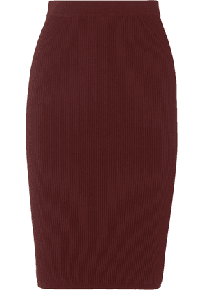 Vince - Ribbed-knit Skirt - Burgundy