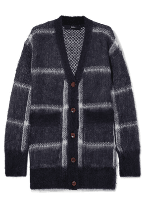 J.Crew - Lian Checked Brushed Knitted Cardigan - Navy