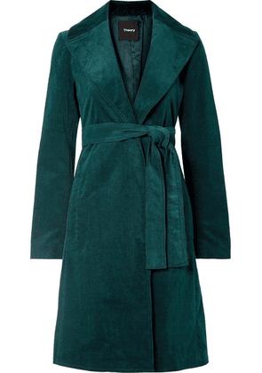 Theory - Cotton-blend Corduroy Coat - Forest green