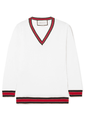 Gucci - Striped Wool-blend Sweater - Ivory