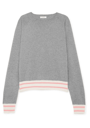 Equipment - Axel Striped Cotton-blend Sweater - Gray