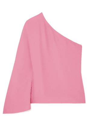 Theory - Ruza One-shoulder Crepe Top - Pink