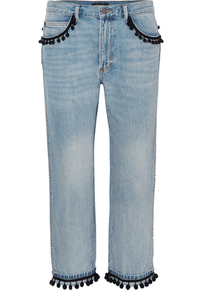 Marc Jacobs - Pompom-embellished Slim Boyfriend Jeans - Blue