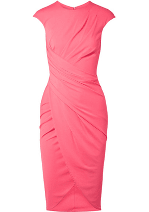Michael Kors Collection - Ruched Stretch-crepe Dress - Bubblegum
