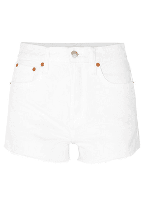 Solid & Striped - + Re/done The Hollywood Frayed Denim Shorts - White