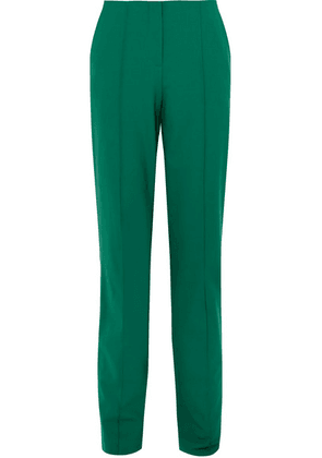 Diane von Furstenberg - Wool-blend Straight-leg Pants - Green