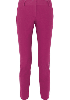 Theory - Cotton-blend Twill Slim-leg Pants - Pink