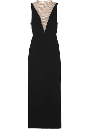 Stella McCartney - Crystal-embellished Mesh And Cady Gown - Black