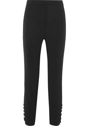 Ellery - Santiago Cropped Button-detailed Crepe Slim-leg Pants - Black