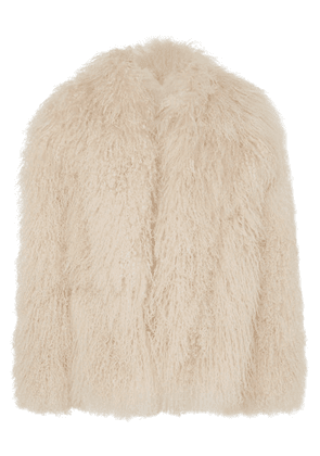 Saint Laurent - Shearling Jacket - Beige