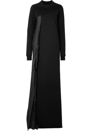Rick Owens - Shell-trimmed Cotton-jersey Maxi Dress - Black