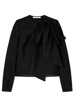 Givenchy - Bow-detailed Mohair And Wool-blend Top - Black