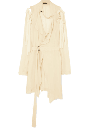 Ann Demeulemeester - Deconstructed Gauze Top - Cream