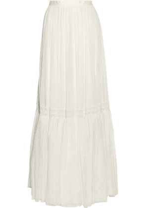 Needle & Thread - Bridal Lace-trimmed Tulle Maxi Skirt - Ivory