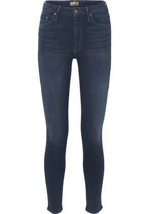 Mother - Looker High-rise Skinny Jeans - Dark denim