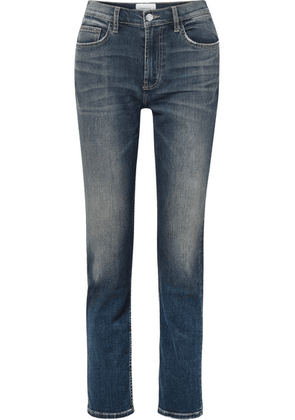 Current/Elliott - The Stovepipe High-rise Straight-leg Jeans - Mid denim