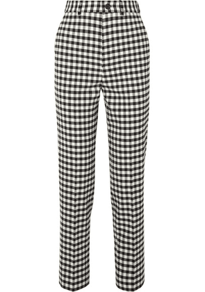 Balenciaga - Checked Woven Straight-leg Pants - Black