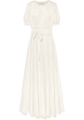 ARoss Girl x Soler - Brooke Washed-silk Maxi Dress - Ivory