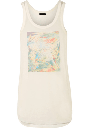 Ann Demeulemeester - Printed Stretch-jersey Tank Top - Cream
