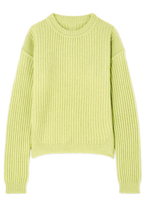 Rick Owens - Ribbed Wool Sweater - Chartreuse