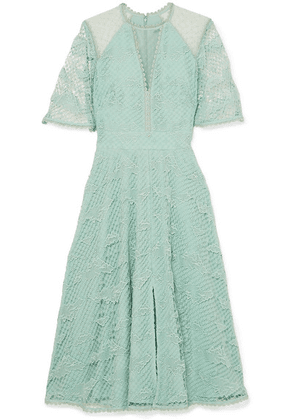 Temperley London - Haze Guipure Lace And Tulle Dress - Mint