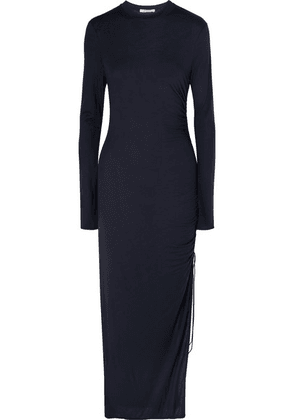 Ninety Percent - Ruched Jersey Maxi Dress - Navy