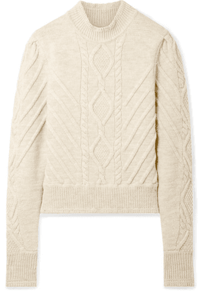 Isabel Marant - Brantley Cable-knit Wool-blend Sweater - Ecru