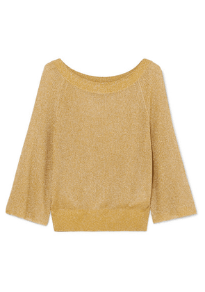 Alice + Olivia - Nakita Ribbed Lurex Sweater - Gold