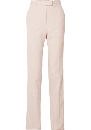 CALVIN KLEIN 205W39NYC - Striped Wool-twill Straight-leg Pants - Pink