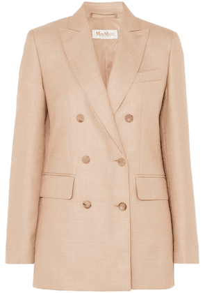 Max Mara - Double-breasted Camel Hair And Silk-blend Blazer - Sand