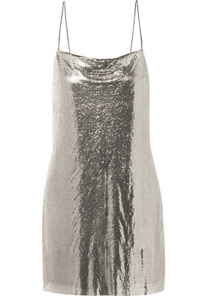 Alice + Olivia - Harmony Chainmail Mini Dress - Silver