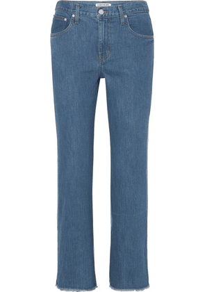 Elizabeth and James - Holden Two-tone High-rise Straight-leg Jeans - Mid denim