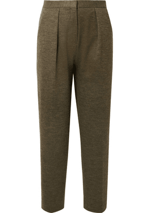 By Malene Birger - Pillio Cropped Woven Tapered Pants - Army green