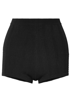 Marc Jacobs - Embroidered Stretch-knit Shorts - Black
