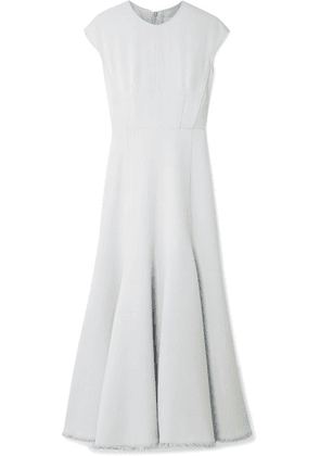 Gabriela Hearst - Crowther Frayed Crepe Maxi Dress - Light blue