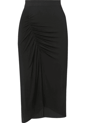 By Malene Birger - Sunikka Ruched Stretch-knit Midi Skirt - Black