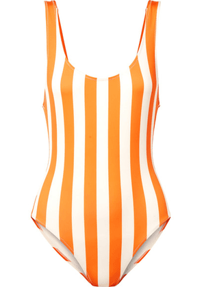 Solid & Striped - The Anne-marie Striped Swimsuit - Orange