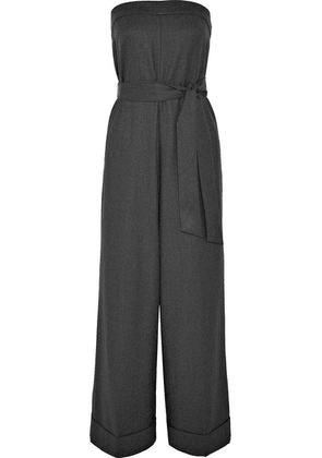 J.Crew - Draft Strapless Belted Wool Jumpsuit - Gray