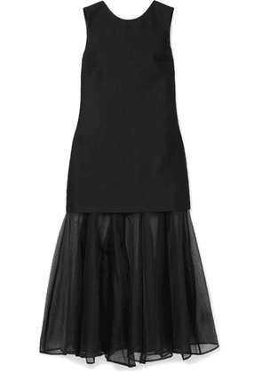 Maggie Marilyn - Find Strength In Your Identity Crepe And Silk-chiffon Midi Dress - Black