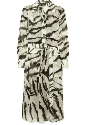 Joseph - Seldon Zebra-print Silk Dress - Cream