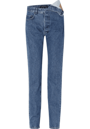 Y/PROJECT - Asymmetric Boyfriend Jeans - Mid denim