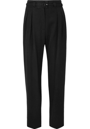 A.P.C. Atelier de Production et de Création - Joan Belted Twill Straight-leg Pants - Black